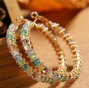 Jewelry - Austrian Crystal gold plated Earrings
